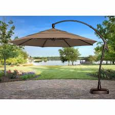 Offset Patio Umbrella Cover Treasure Garden 11 Ft Obravia Cantilever Offset Patio Umbrella In