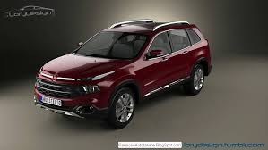 fiat freemont 2017 fiat c suv toyota fortuner rival rendering