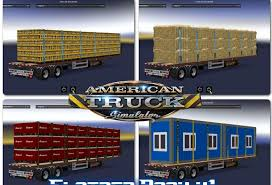 truck pack v1 5 american truck simulator mods ats mods flatbed pack for ats v1 mod ats mod american truck simulator mod