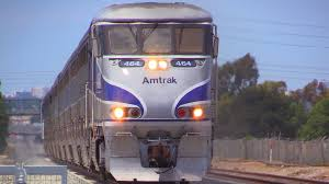 Amtrack Amtrak Trains 9 To 10 Car Long Surfliners Youtube