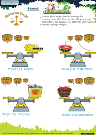 balanced fruit math worksheet for grade 4 free u0026 printable