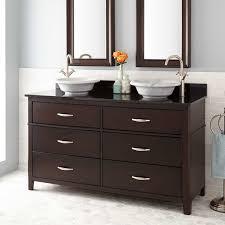 espresso double sink vanity signature hardware
