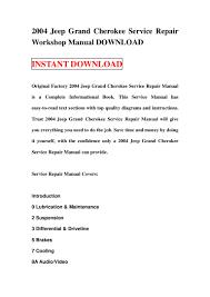 2004 jeep grand cherokee service repair workshop manual download