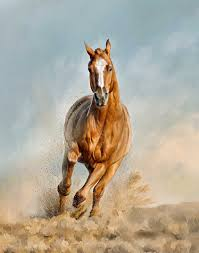 mustang horse running chestnut horse running photo a painted pet custom pet paintings
