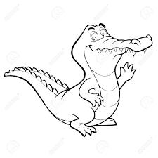 Dessin Animé Crocodile Alligator En Ligne Dart Livre De Coloriage
