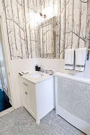 White Bathroom Decor - creative idea cool bedroom with white bed near round black
