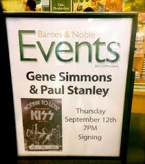 Barnes And Noble West Farms Mall Offbeat L A Event Kiss At Barnes U0026 Noble I Wanna Rock And Roll