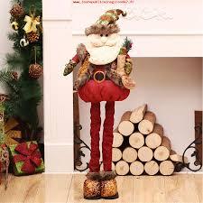 ventes de noël standing large retractable santa claus snowman