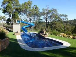 Backyard Pool With Slide Backyard Pools With Slides Home Outdoor Decoration