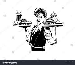 retro martini clip art retro waitress clip art stock vector 56456380 shutterstock