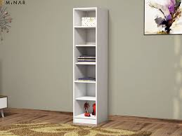 white 5 shelf bookcase minar mobilya recently viewed products granikos 1 door 5 shelves