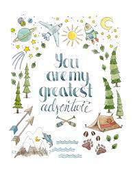 Home Quote Explorer by Quote Print Nursery Art Watercolor Print Adventure Home