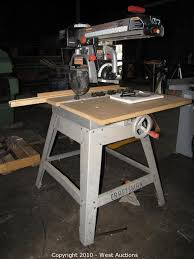 Craftsman Radial Arm Saw Table West Auctions Auction Woodworking Company In Newcastle Ca Item