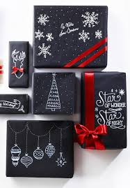 black wrapping paper christmas decoration in black and white decoration wraps and