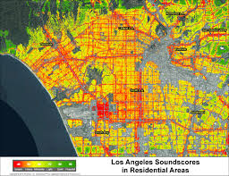 Los Angeles Airport Map mapping the loudness in every home and u0027hood in los angeles