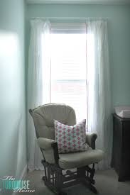 sweet nursery curtains with no sew pom pom trim the turquoise home