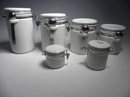 ceramic canister set with stainless steel spoon buy ceramic