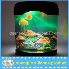 glowing effect fluorescent artificial jellyfish aquarium