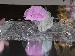 deco table rose et gris décoration baptême théme papillon coccinelle gris et rose