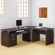 Black Glass L Shaped Computer Desk by Glass Top Metal L Shaped Computer Desk All About House Design L
