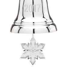 lenox silver bell christmas ornament 2017 lenox ornaments