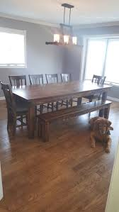 Farm Tables With Benches Best 25 Farmhouse Table With Bench Ideas On Pinterest Farm
