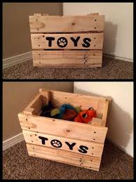 Build A Toy Box From Pallets by Best 25 Dog Toy Box Ideas On Pinterest Diy Dog Dog Station And