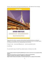 solutions manual advanced engineering mathematics 10th edition by