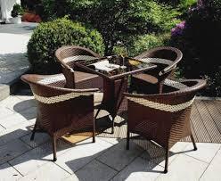 Esszimmerst Le Aus Rattan Gartenmöbel Aus Polyrattan Sitzgruppe Terasse Balkon Sessel Stuhl