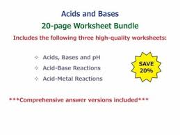 Ph Worksheet Acids And Bases Worksheet Bundle By Goodscienceworksheets