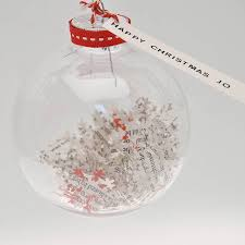 personalised snowflake confetti bauble by letteroom