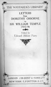letters from dorothy osborne to sir william temple