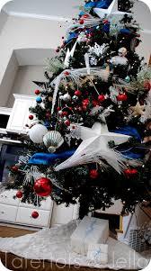 Blue Velvet Tree Skirt 24 Best Christmas Trees Red White And Blue Images On Pinterest