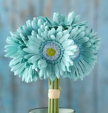 gerbera bouquet teal artificial gerbera bouquet bushes and bouquets