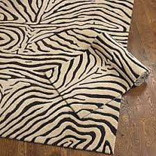 Taupe Zebra Rug Mali Zebra Outdoor Rug Ballard Designs