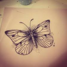 simple small dotwork butterfly design tattooimages biz