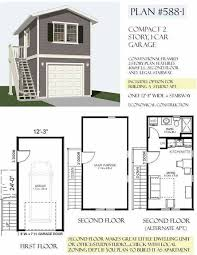 garage plans two story 1 car garage plan 588 1 12 u0027 3