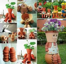 wonderful diy clay pot flower people diy clay clay and couples