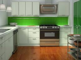 green kitchen backsplash