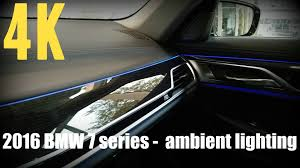 bmw f10 ambient lighting 2016 bmw 7 series ambient lighting all colors 4k
