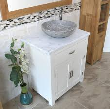 Bathroom Vanity Units With Basin by Bathroom Vanity Unit Off White Cream Painted White Marble Top