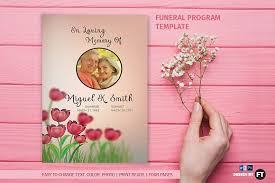 where to print funeral programs funeral program template brochure templates creative market