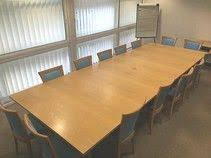 Oak Boardroom Table Bleached Oak Boardroom Table With Cable Outlet Ports Used