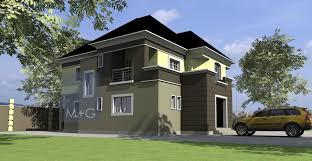 Luxury Duplex House Plans Contemporary Nigerian Residential Architecture 5 Bedroom Luxury