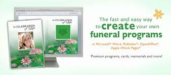 make your own funeral program funeral programs funeral program templates