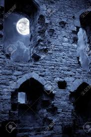 spooky haloween pictures a very spooky halloween castle in the moonlight stock photo
