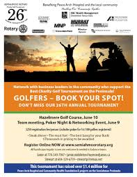 Charity Golf Tournament Welcome Letter stories rotary club of semiahmoo white rock