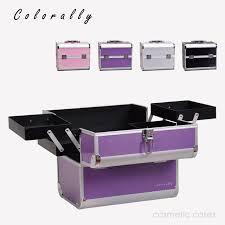 Makeup Box 4 colors aluminum fashion makeup box box with inner tray