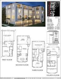 narrow house floor plans townhouse plan d6050 2321 spaces row house