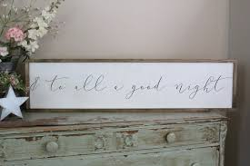 and to all a good night wood sign christmas wall art farmhouse